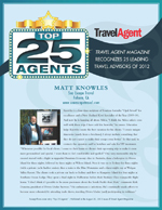 Top 25 Travel Agents - By Travel Magazine, Sacramento travel agent